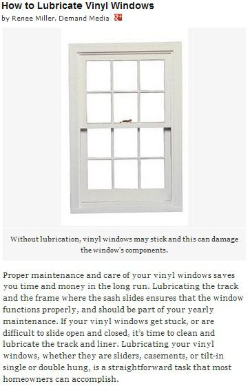 How To Lubricate Vinyl Windows Fort Collins Roofing